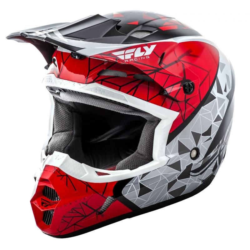 Casque cross Fly Racing Kinetic Crux rouge/blanc/noir
