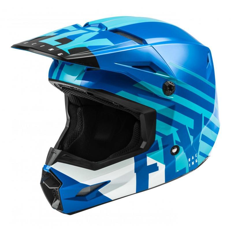 Casque cross Fly Racing Kinetic Thrive bleu/blanc