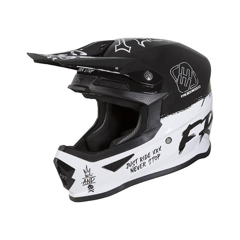 Casque cross Freegun XP-4 Speed brillant noir