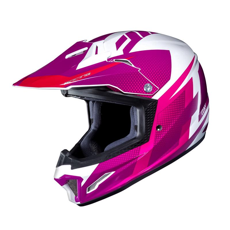 Casque cross HJC CL-XY II Argos blanc/rose