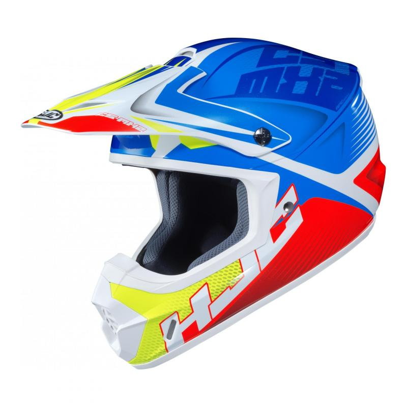 Casque cross HJC CS-MX II Ellusion MC23 bleu/rouge/vert fluo