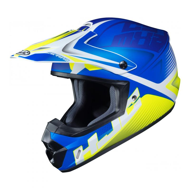 Casque cross HJC CS-MX II Ellusion MC2SF bleu/blanc/vert fluo mat