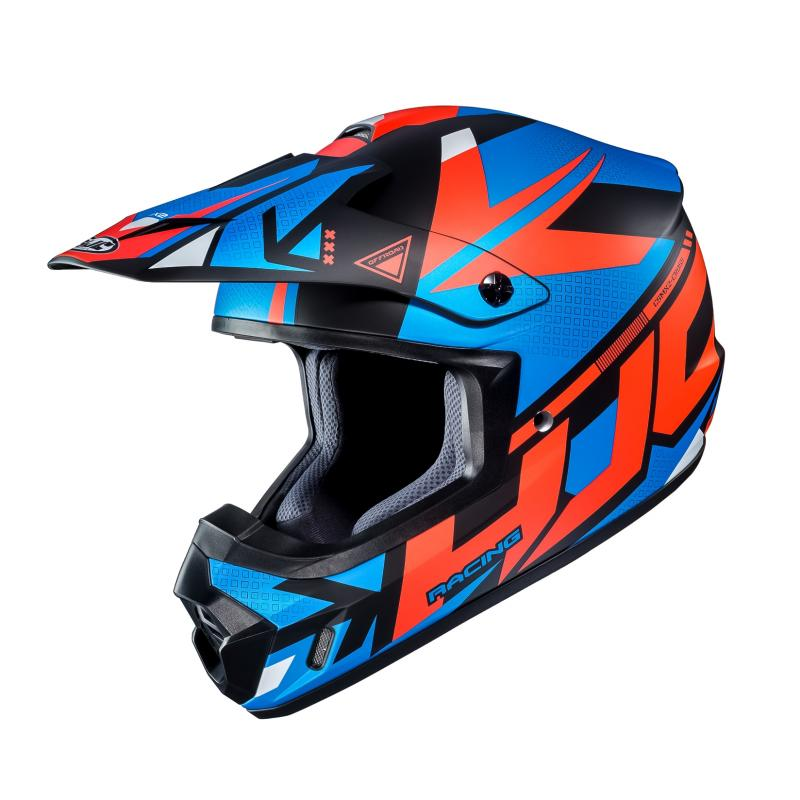 Casque cross HJC CS-MX II Madax bleu/orange