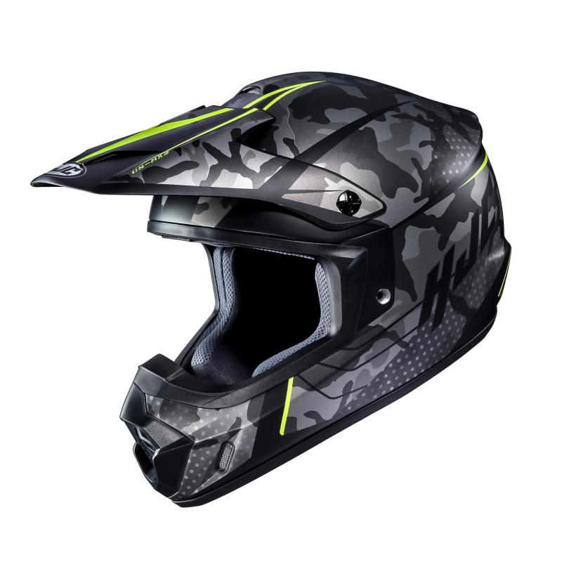 Casque cross HJC CS-MX II Sapir camo gris/jaune fluo