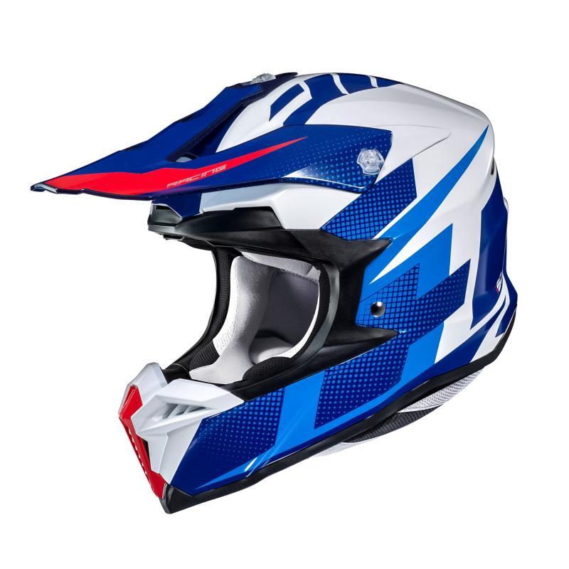 Casque cross HJC I50 Argos bleu/blanc/rouge