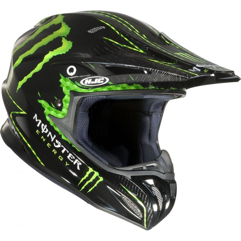Casque cross HJC RPHA X NATE ADAMS MONSTER MC5 Noir/Vert