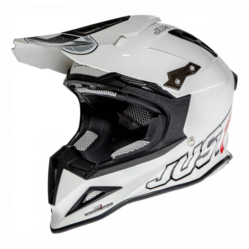 Casque cross Just1 J12 Solid blanc