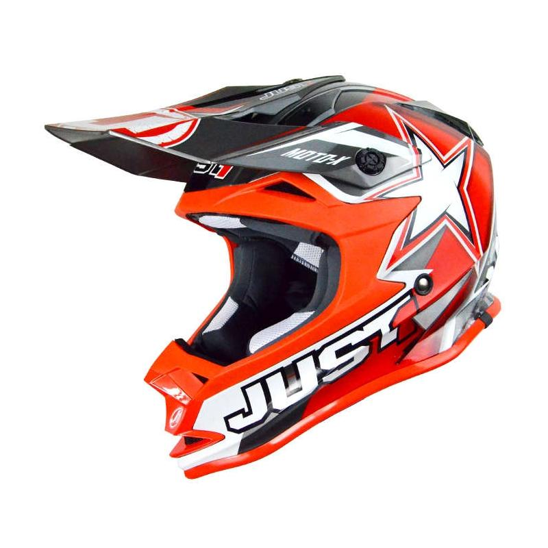 Casque cross Just1 J32 Moto X rouge