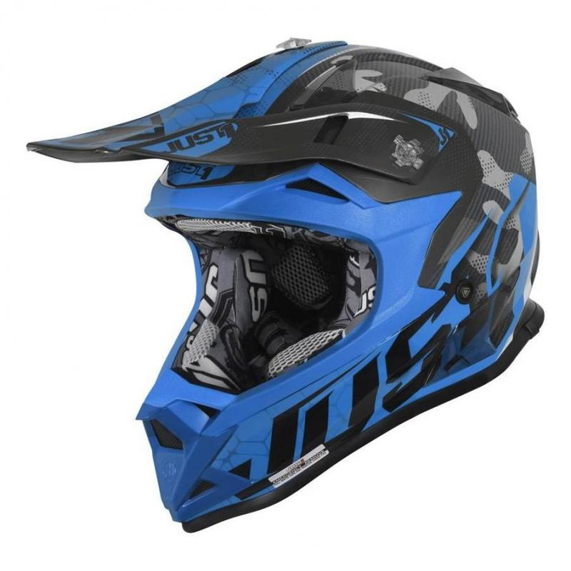 Casque cross Just1 J32 Pro Swat camouflage / bleu