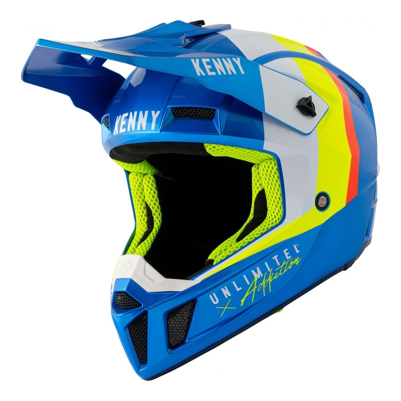 Casque cross Kenny Performance Graphic candy blue