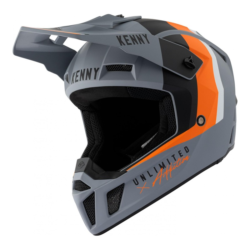 Casque cross Kenny Performance Graphic Mat gris/orange