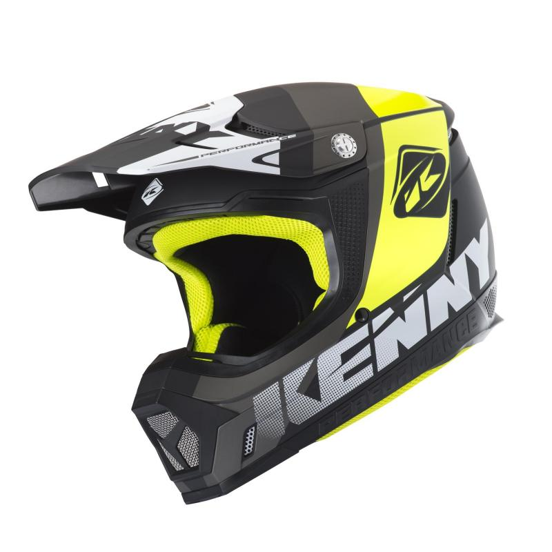Casque cross Kenny Performance gris