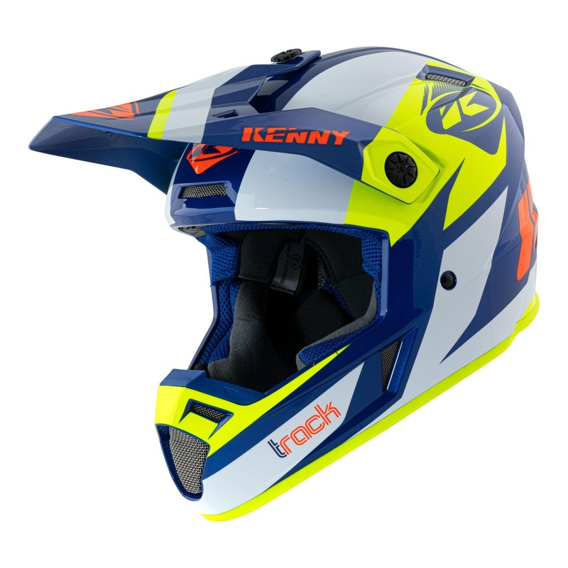 Casque cross Kenny Track Graphic navy/jaune fluo