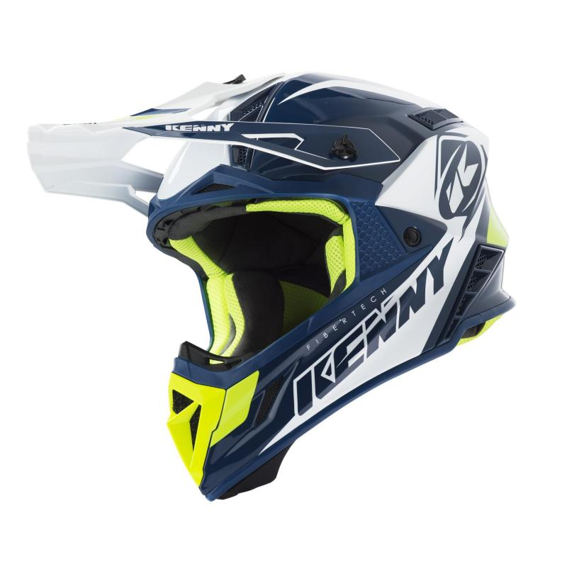 Casque cross Kenny Trophy navy/blanc