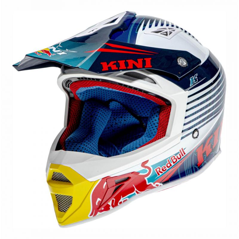 Casque cross Kini Red Bull Competition bleu marine