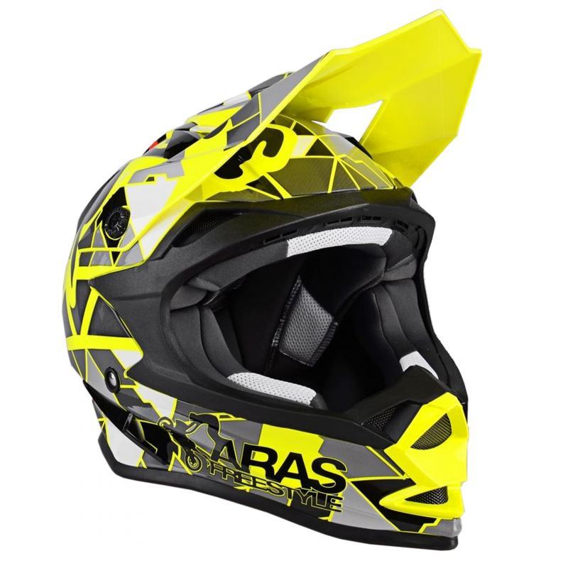 Casque cross Lazer OR1 Aras Freestyle Replica jaune fluo/noir/rouge