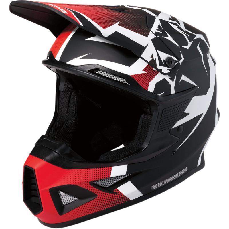Casque cross Moose Racing FI Agroid MIPS noir/rouge