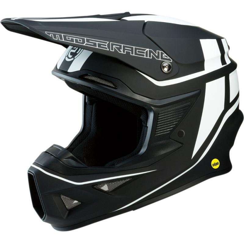 Casque cross Moose Racing FI Session Mips noir/blanc