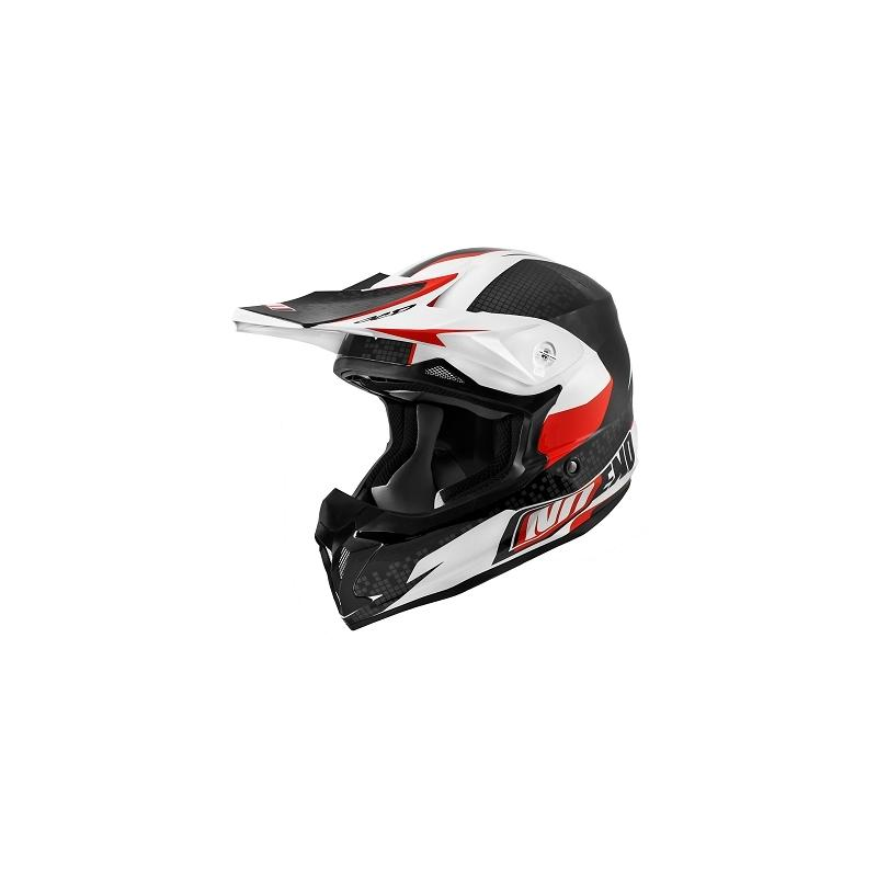 Casque cross Noend Defcon By OCD TX696 blanc/rouge