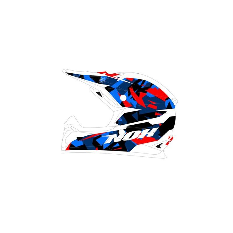 Casque cross Nox N631 SPARK bleu/blanc/rouge