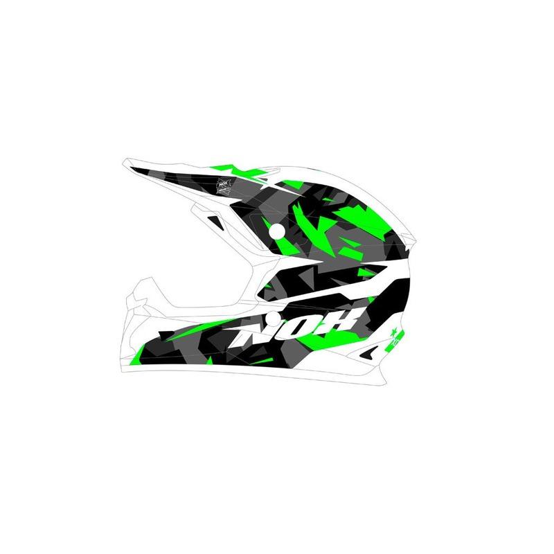 Casque cross Nox N631 SPARK vert