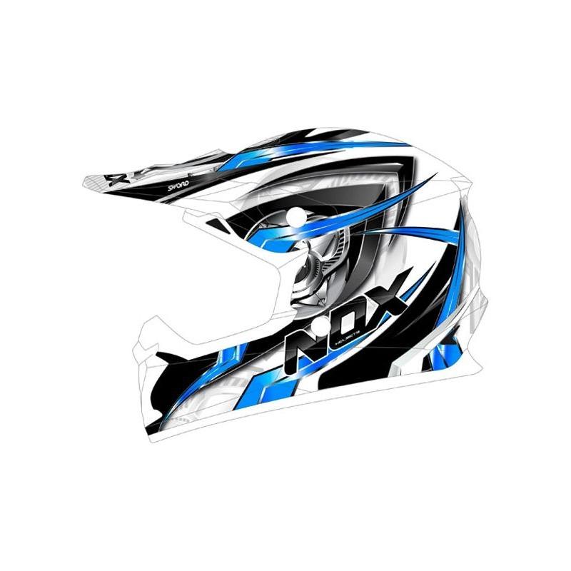 Casque cross Nox N631 SWORD bleu