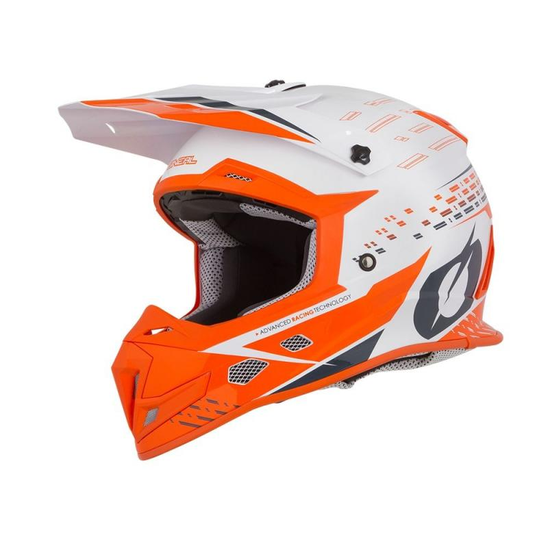 Casque cross O'Neal 5SRS Trace blanc/orange