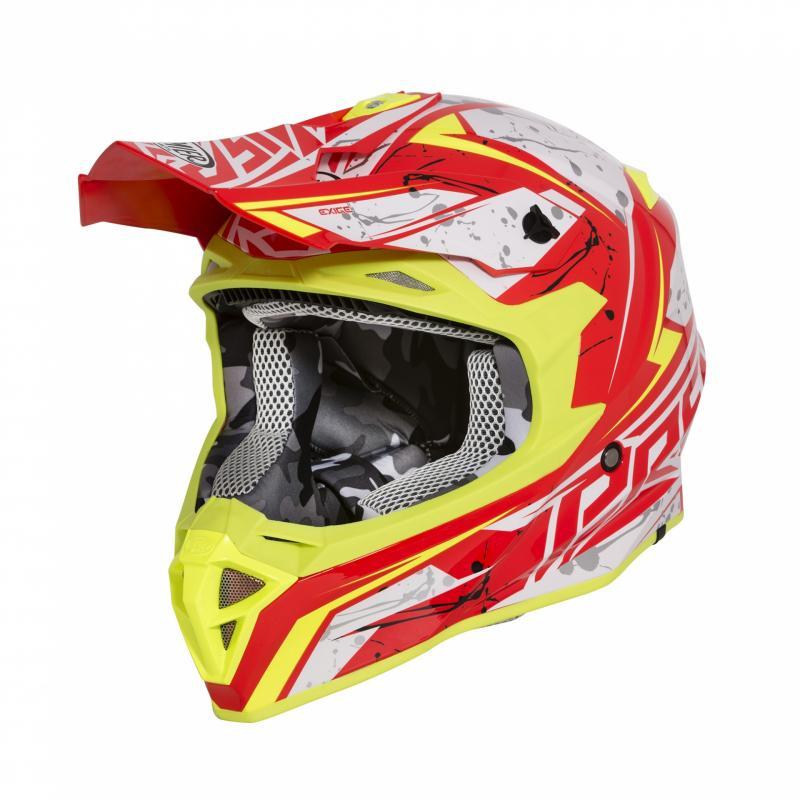 Casque cross premier Exige QX2 rouge/jaune/blanc