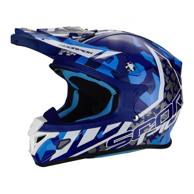Casque cross Scorpion VX-21 AIR FURIO bleu/blanc
