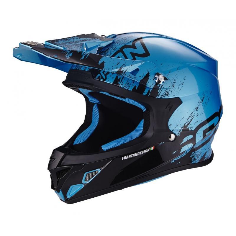 Casque cross Scorpion VX-21 AIR MUDIRT noir/bleu