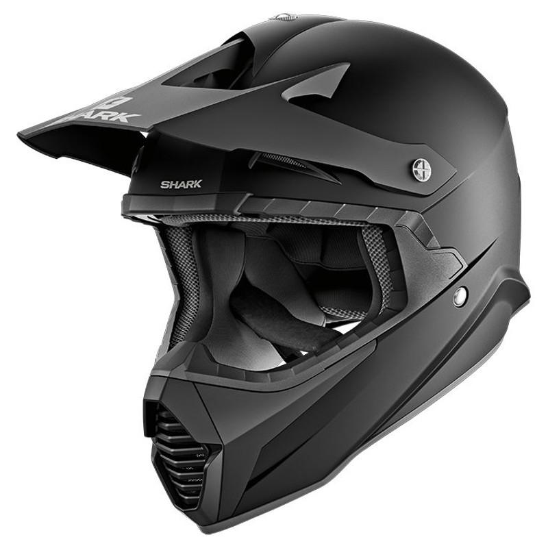 Casque cross Shark VARIAL BLANK MAT noir