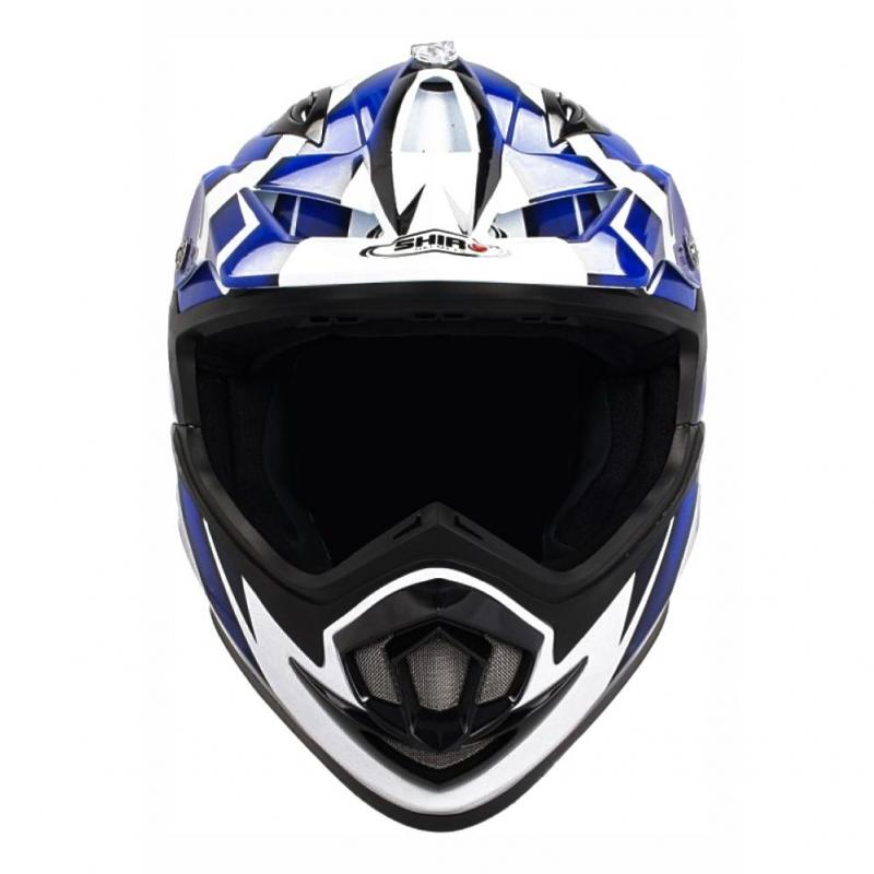 Casque cross Shiro Troy MX 734 bleu