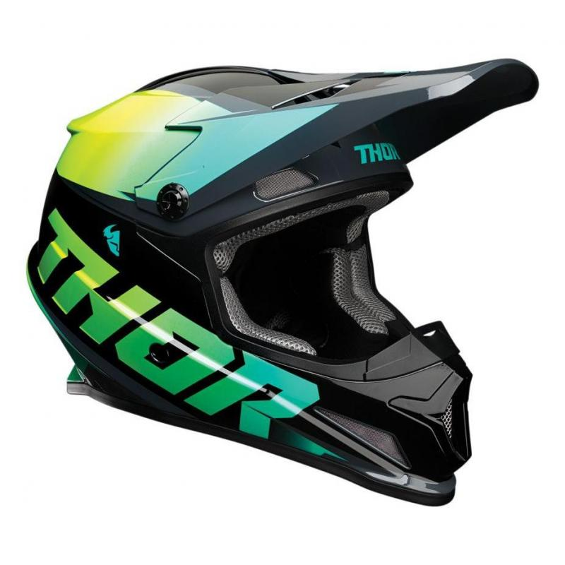 Casque cross Thor Sector Fader acid/teal brillant