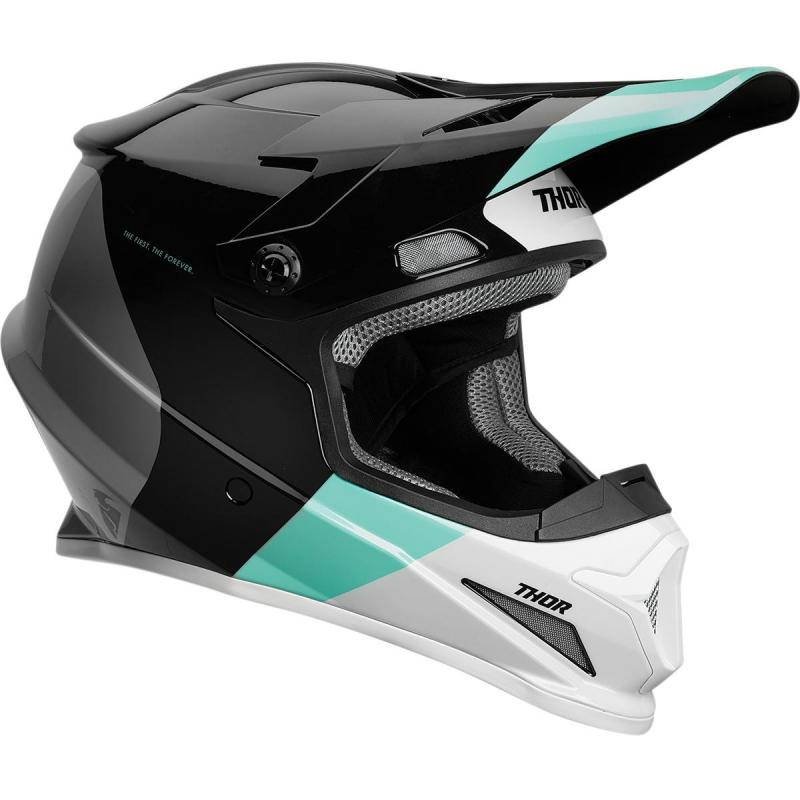 Casque cross Thor Sector Mips black/mint