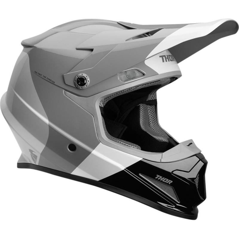 Casque cross Thor Sector Mips charcoal/blanc
