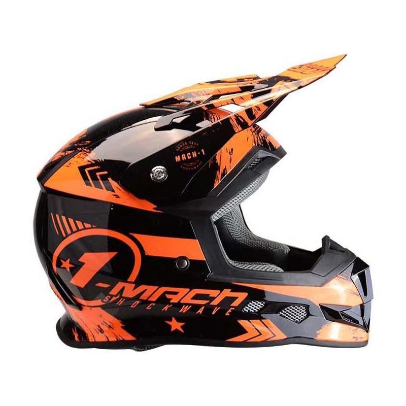 Casque cross Trendy T-902 Mach1 noir / orange
