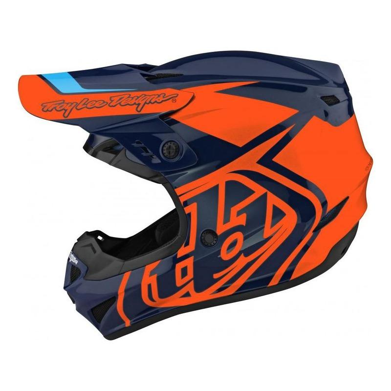 Casque cross Troy lee Designs GP Polyacrylite Overload navy/orange