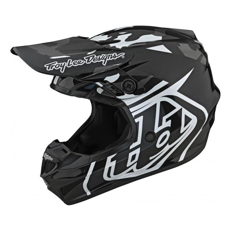 Casque cross Troy lee Designs GP Polyacrylite Overload camo noir/gris
