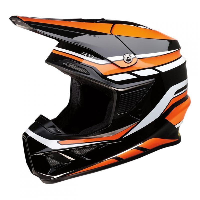 Casque cross Z1R Fi Flank Mips noir/orange/blanc brillant