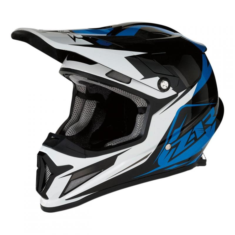 Casque cross Z1R Rise Ascend noir/blanc/bleu brillant