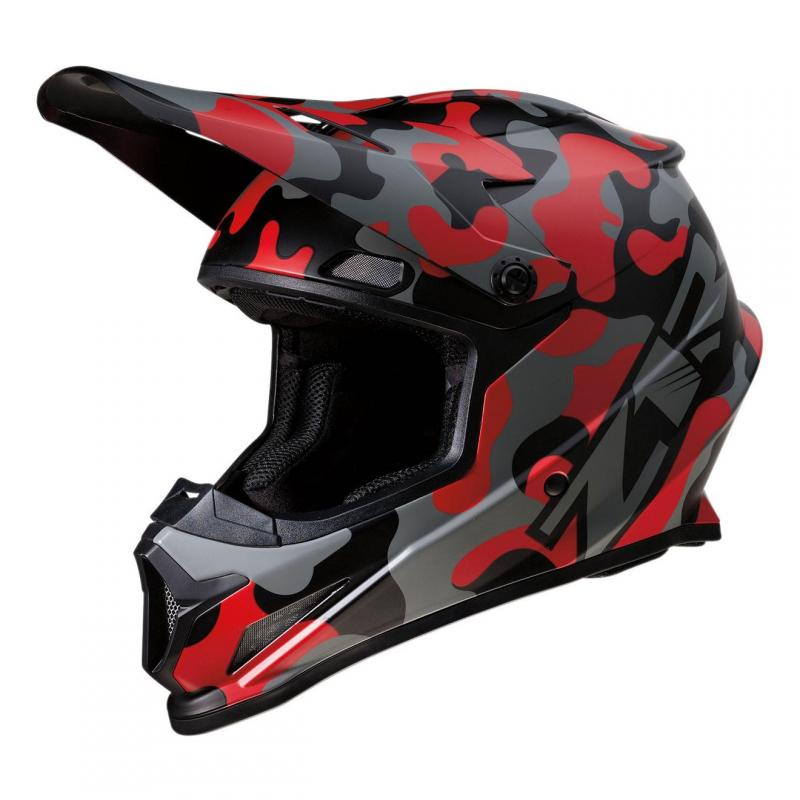 Casque cross Z1R Rise Camo-Red rouge/camouflage