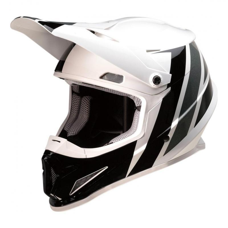 Casque cross Z1R Rise Evac blanc/noir/gris brillant