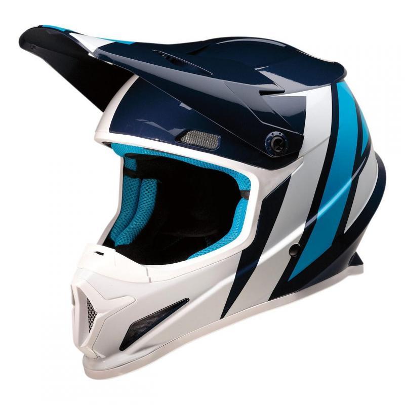Casque cross Z1R Rise Evac bleu/blanc brillant