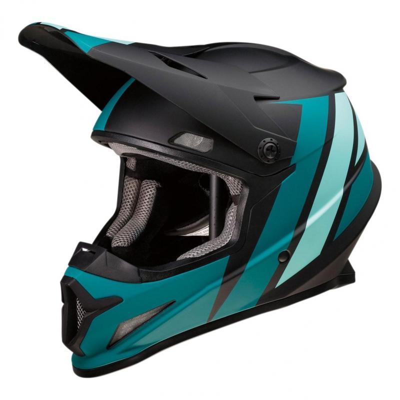 Casque cross Z1R Rise Evac noir/turquoise
