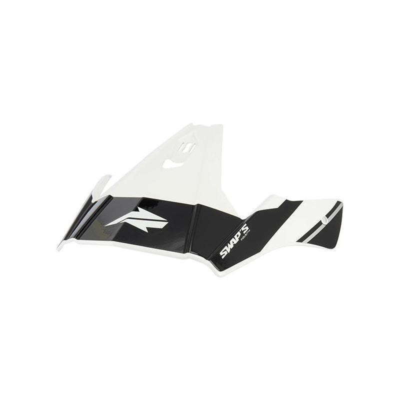Casque de casque jet Swaps S769 Trooper blanc/noir
