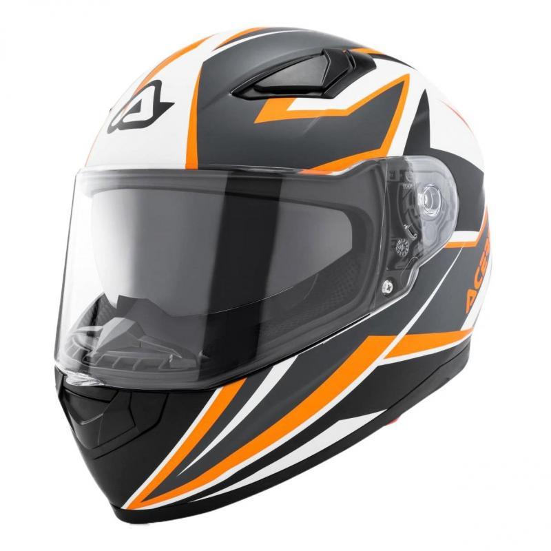 Casque intégral Acerbis X-Street FS-816 orange/blanc