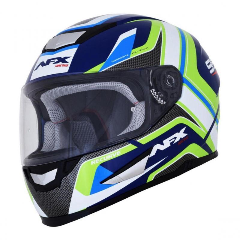 Casque intégral AFX FX99 bleu marine/vert/bleu clair