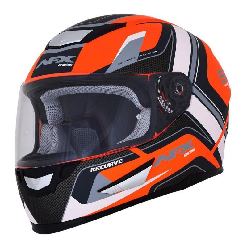 Casque intégral AFX FX99 orange mat/blanc