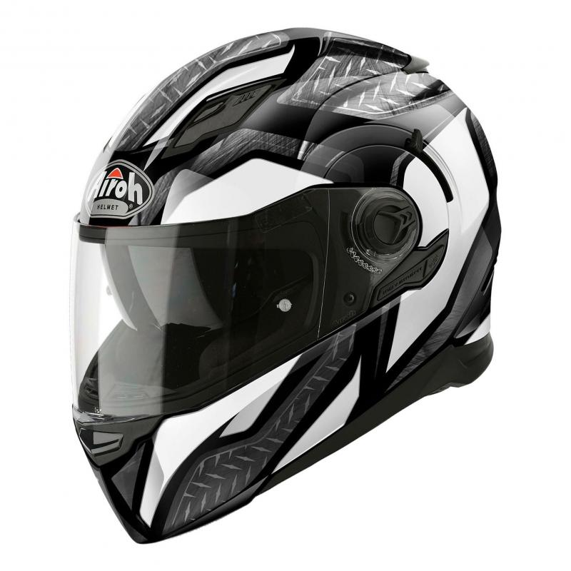 Casque intégral Airoh Movement S Steel blanc