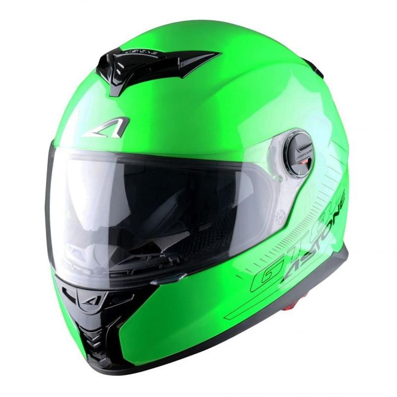 Casque Intégral Astone Gt800 Solid Exclusive vert fluo